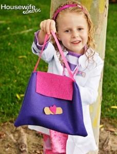 borsa costume di carnevale da Dottoressa Peluche fai da te
