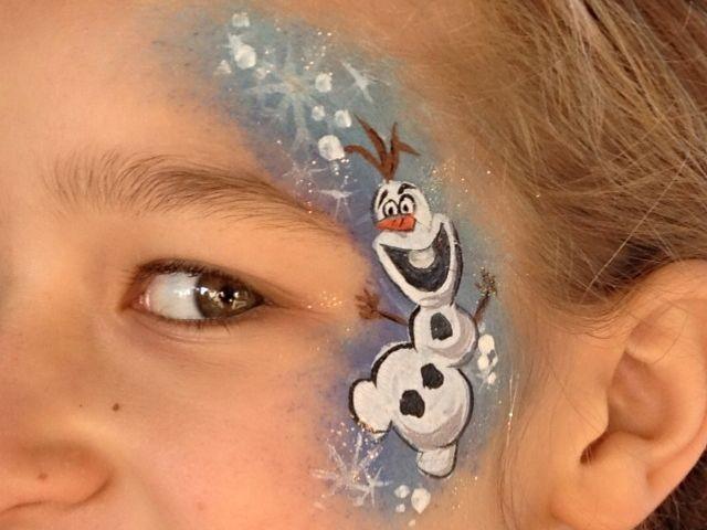 Trucco di Frozen_Olaf_disegni sul viso