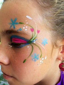 trucco di frozen: disegni viso principessa Anna