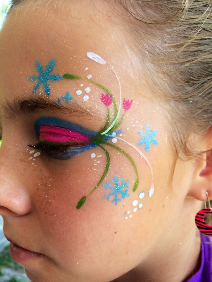 Trucco di frozen consigli per un make up perfetto for Frozen face paint
