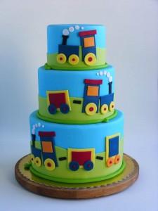 torta trenino in pasta di zucchero 2d