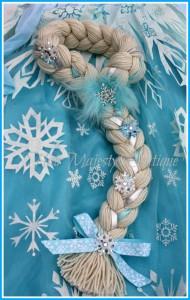 come fare la treccia di Elsa di Frozen