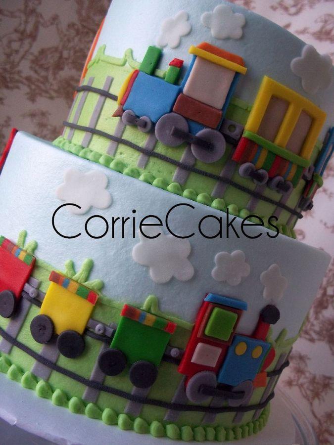 trenino in pasta di zucchero per torta bidimensionale