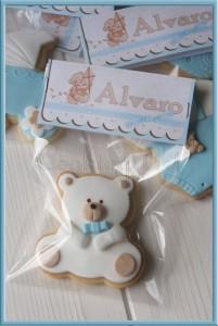 biscotti decorati per bomboniere _orsetto pasta di zucchero