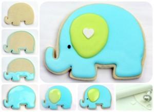 biscotti decorati per bomboniere_tutorial elefante