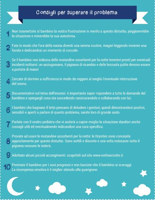 infografica drynites enuresi notturna consigli