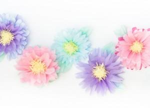 fiori di carta velina fai da te multicolor