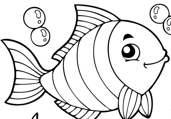 Pesce aprile colora for Disegni di pesci da colorare e stampare