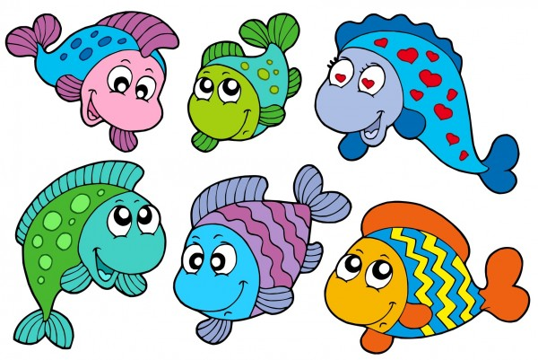 Pesci d 39 aprile for Disegni da colorare pesciolini
