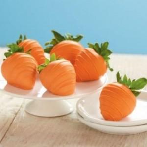 tavola di Pasqua_centro tavola con fragole-carote