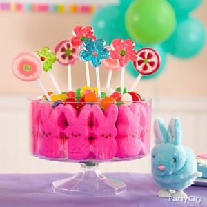 tavola di Pasqua_centrotavola con caramelle
