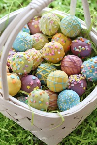 tavola di Pasqua_cestino cake pops