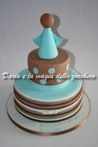 torta prima comunione da maschio_angioletto stilizzato