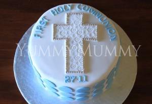torta prima comunione da maschio_croce