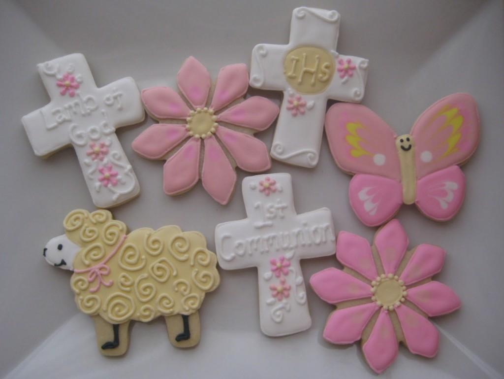 Biscotti per la prima comunione bambina misti