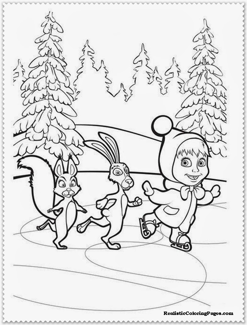 Disegni da colorare a tema masha e orso 10 for Disegni da colorare masha e orso