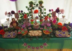 Festa a tema Masha e Orso_dessert table