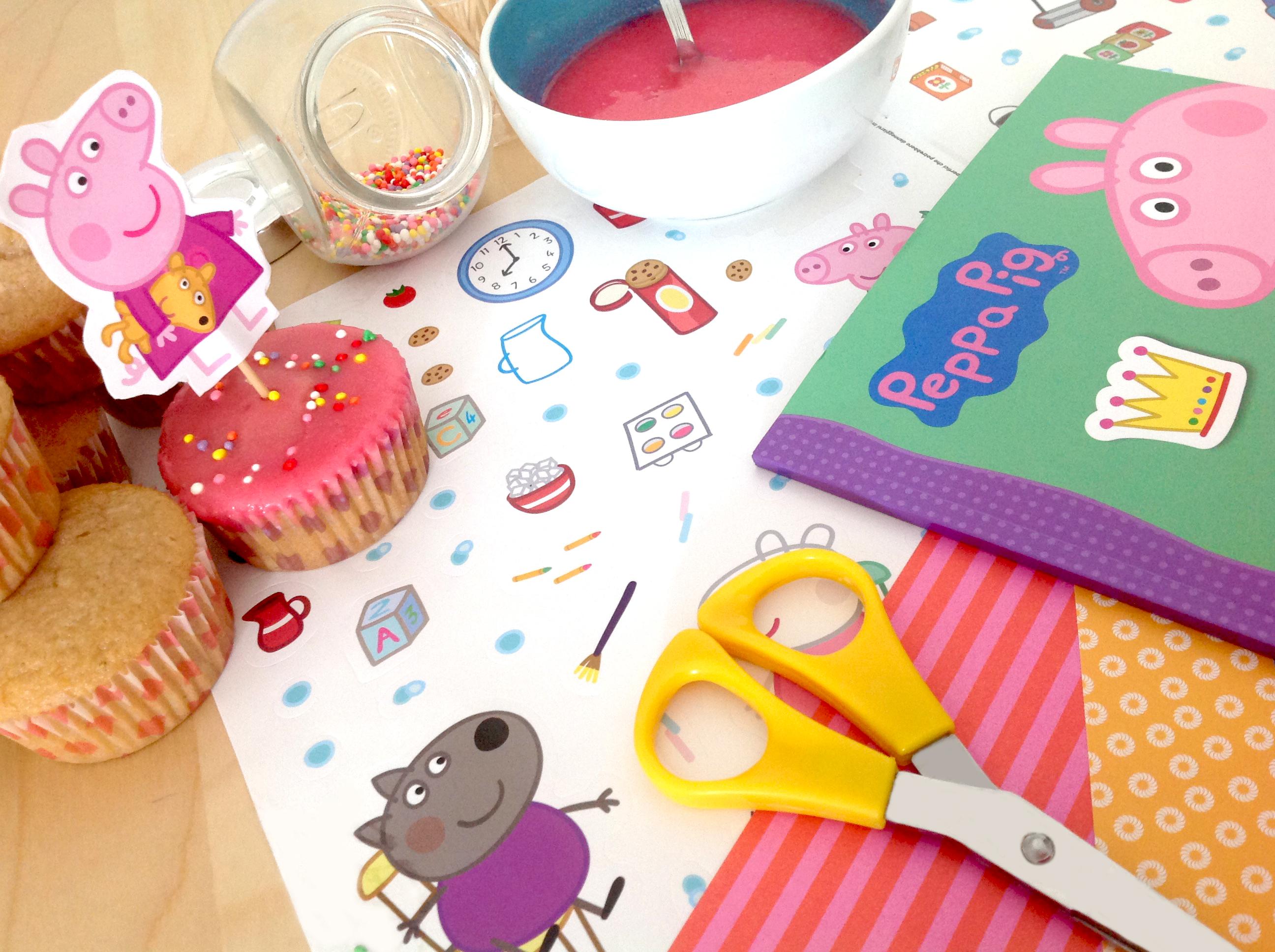 Cupcake di Peppa Pig facili_piano di lavoro