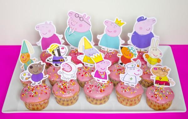 Cupcake di Peppa Pig facili_tutti i personaggi