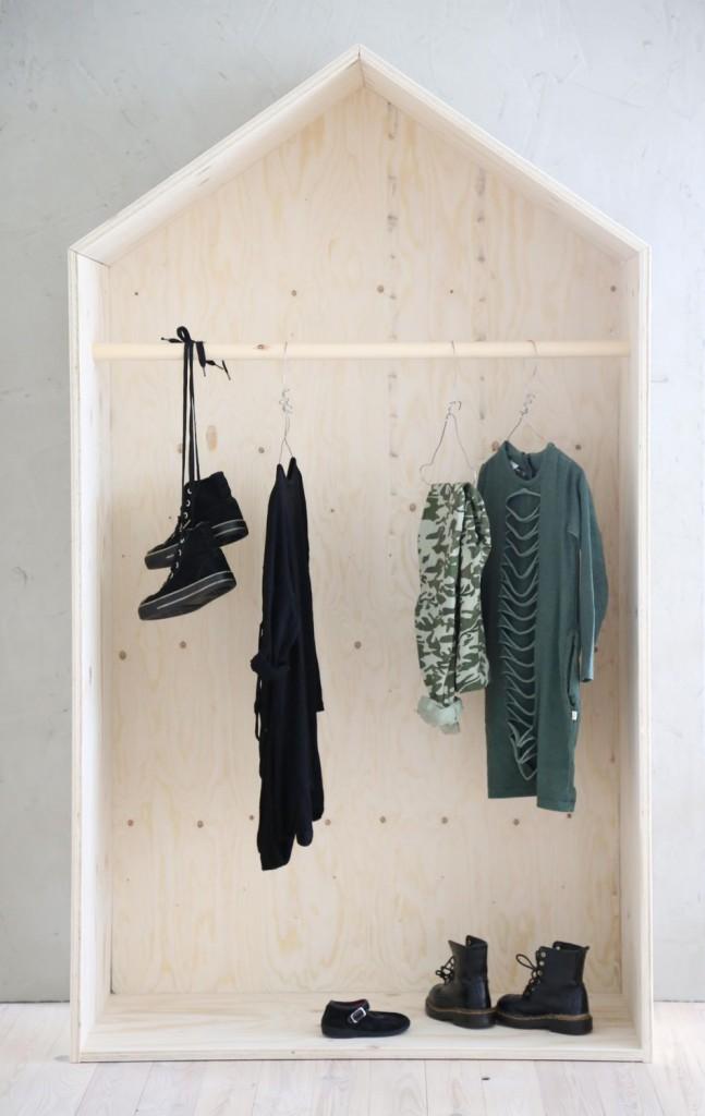 Casette di legno per arredare la cameretta dei bambini for Armadio stile nordico
