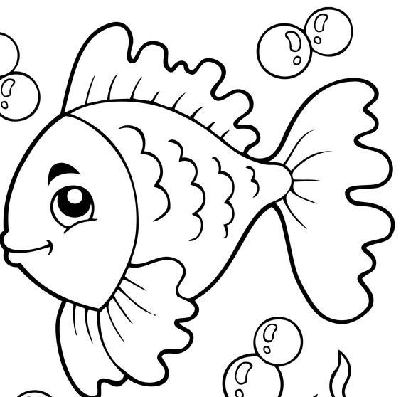 Pesce aprile colorare stampare for Immagini di pesci da disegnare