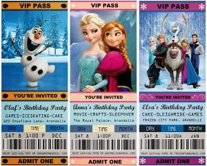 Festa a tema Frozen_Inviti biglietti cinema
