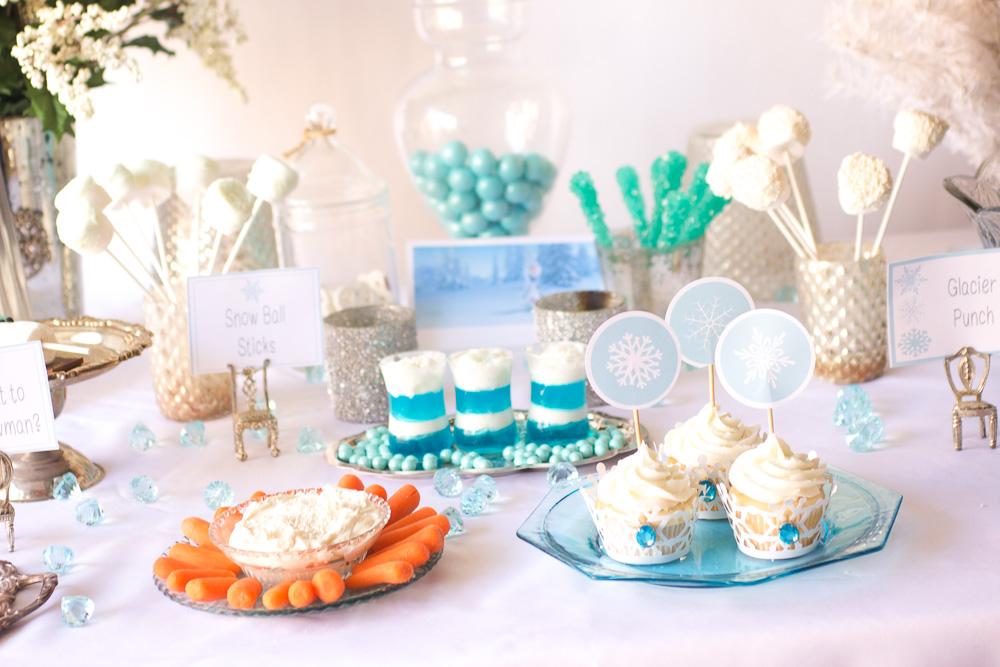 Buffet per una festa a tema Frozen_buffet