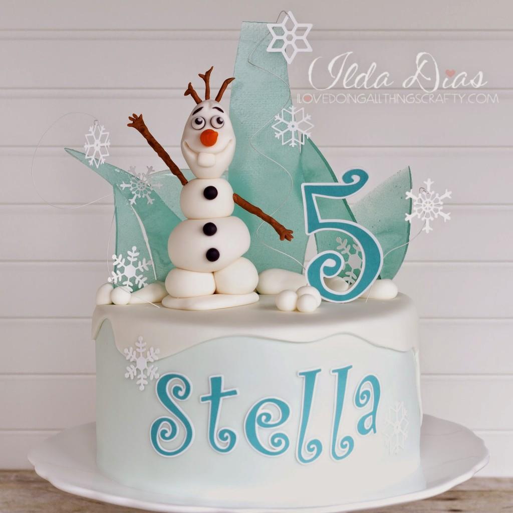 Festa a tema Frozen_torta