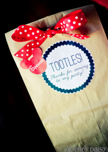 Festa a tema Topolino- sacchetto gift away