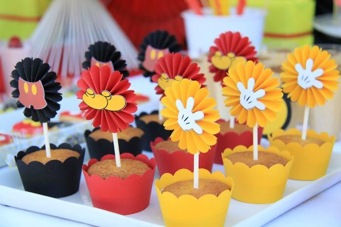 Festa a tema topolino decorazioni cupcake - Decorazioni per feste fai da te ...