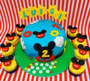 Festa a tema Topolino_torta e cupcake