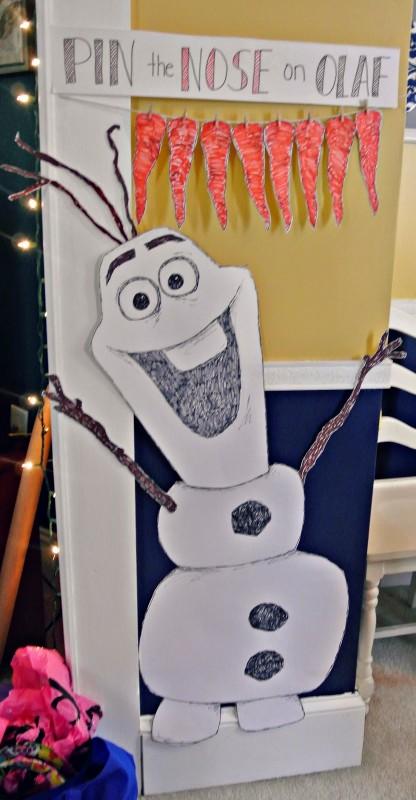 Giochi per una festa a tema Frozen_attacca il naso a Olaf