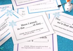 Giochi per una festa a tema Frozen_caccia al tesoro biglietti