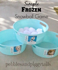 Giochi per una festa a tema Frozen_lancio della palla di neve