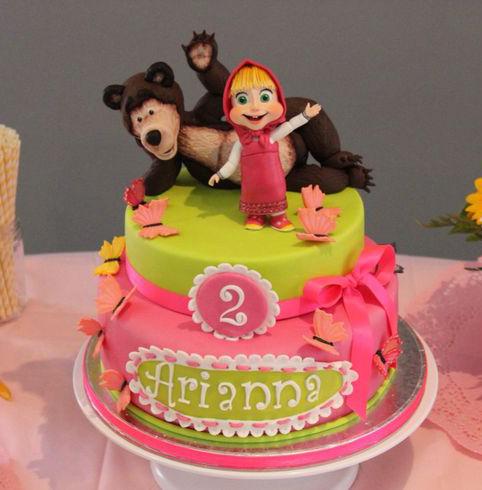 Torte Masha E Orso Rosa