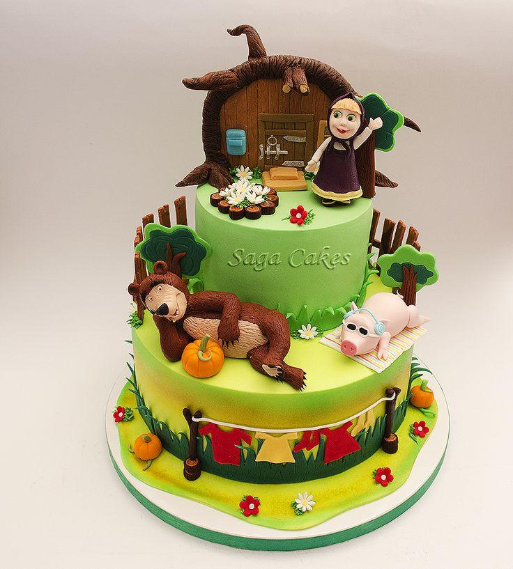 Torte Masha e Orso con maialino