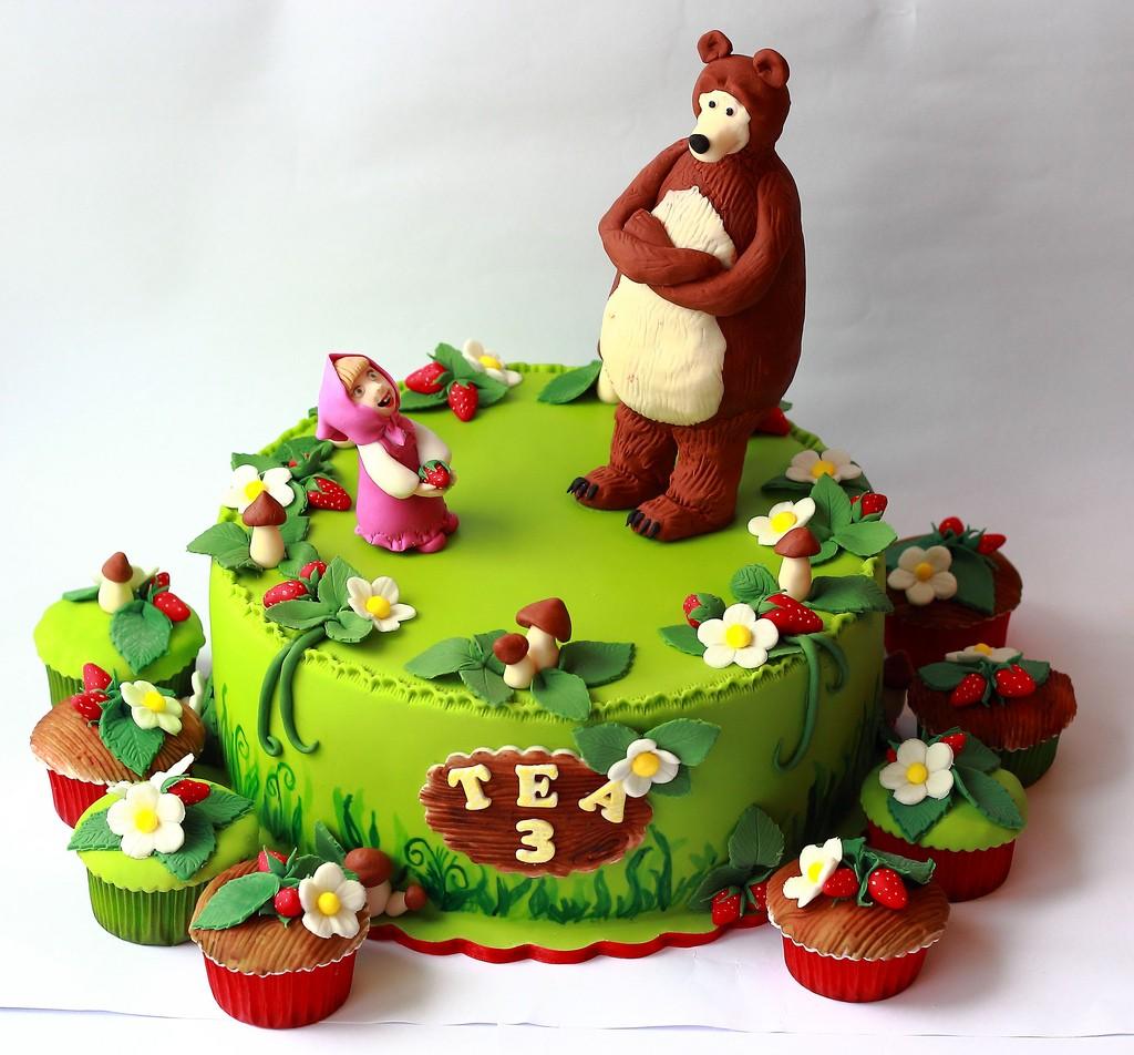 Torte Masha E Orso Cupcakes