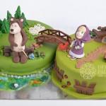Torte Masha e Orso_torta doppia