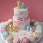 Torte decorate per battesimo_animali e cupcake