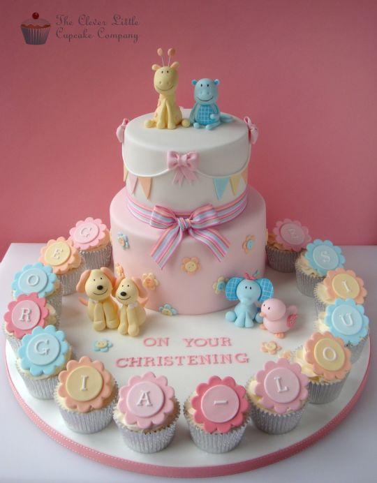 Torte decorate per battesimo_animali e cupcake