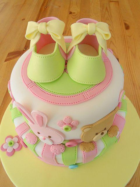 Torte decorate per battesimo_multicolor