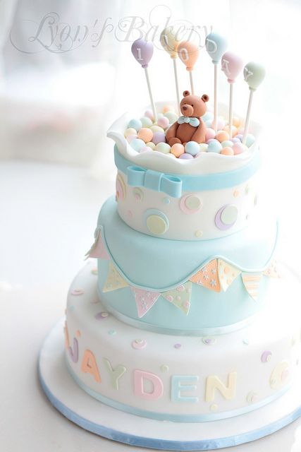 Bien-aimé Torte decorate per battesimo_orsetto e pois - Blogmamma.it  CF78
