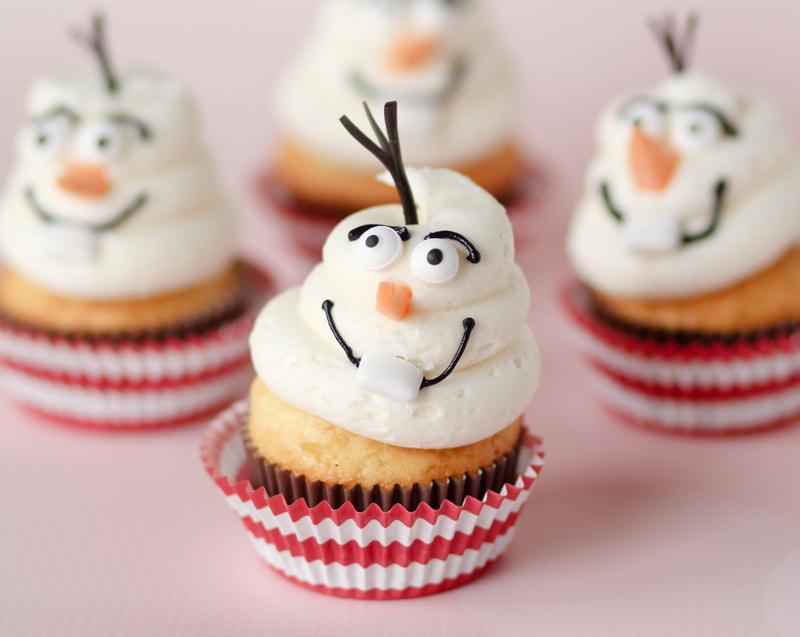 buffet per Festa a tema Frozen_cupcake Olaf