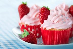 Dolci con le fragole- Cupcakes