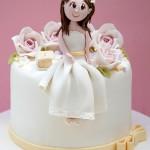 torte per la prima comunione per bambina__bambolina_Alessandra Cake Designer