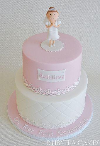 Torte per la prima comunione per bambina bambolina for Decorazione torte prima comunione