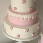 torte per la prima comunione per bambina_roselline