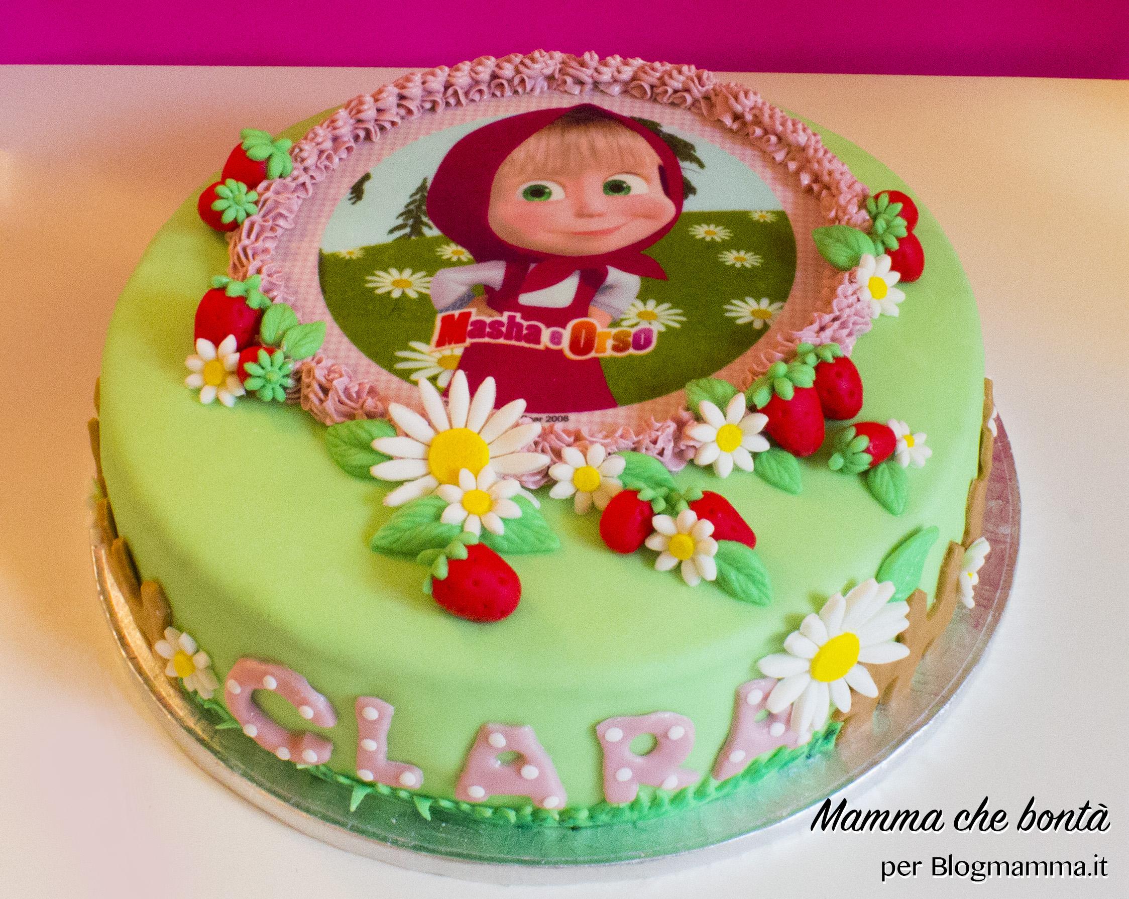 Decorazioni per torta di masha e orso - Decorazioni per torte di carnevale ...