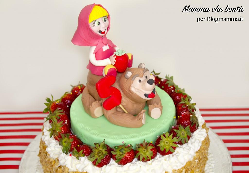 Decorazioni per torta di Masha e Orso_topper pasta di zucchero