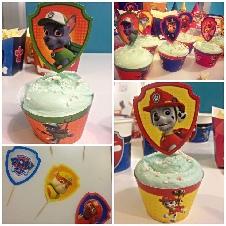 Festa a tema Paw patrol_cupcakes